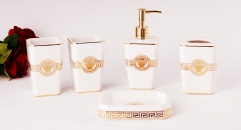 5 pcs white glaze royal VERSACE bathroom set