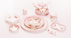 11Pcs table ware Bone China glaze color set