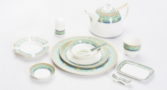 11Pcs tableware Bone China glaze color set