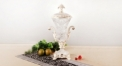 crystal and porcelain trophy, flower decorative top