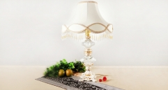 crystal and porcelain tower decorative table lamp