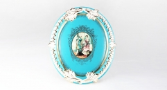 oval porcelain wall picture decoration