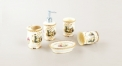 5 pcs royal ivory porcelain embossed bathroom set, mythological theme