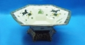 royal ivory porcelain horse sexangle compote, fruit bowl