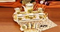 10pcs royal ivory porcelain Medusa coffee set with tray