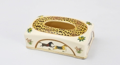 royal ivory porcelain tissue box
