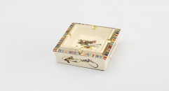 royal ivory porcelain square ashtray