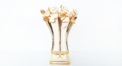 Imperia golden rose vase with crystals