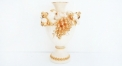 Imperial fruit decorated vase with crystals