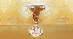 porcelain flower candle holder with crystals