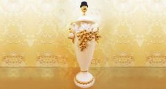 fruit decorated samll lamp with crystals
