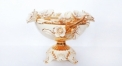 Imperial golden plum flower display bowl