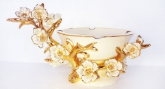 porcelain plum flower ashtray