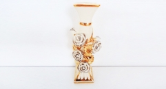 porcelain rose candle holder