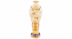 Imperial plum flower and lily table lamp with crystals