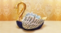porcelain swan tray (colored)