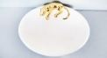 porcelain golden leopard tray
