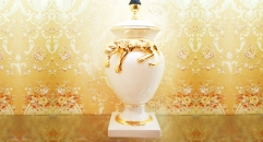 porcelain golden leopard table lamp