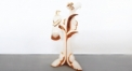 porcelain magpie tree decoration