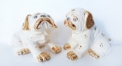Imperial porcelain double pug figures