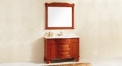 High-end oak sanitary ware, European style solid wood cabinet and mirror