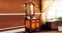 High-end antique oak sanitary ware, European style solid wood cabinet and mirror