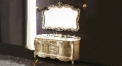 antique white oak, color jade thickening marble cabinet and mirror