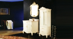 beige and leaf paint gold oak, golden line beige marble cabinet and mirror