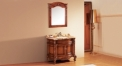light brown oak, tiger stripes jade marble cabinet and mirror