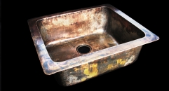 Cast bronze undermount sink