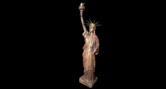 Bronze Statue of Liberty Figure Decoration