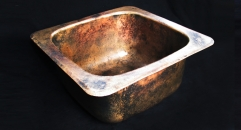 Cast bronze bar sink