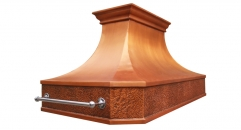 Island  Mounted Copper Range Hood