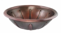 Round Copper Vanity Sink Round