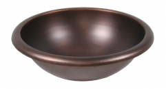 Round Smooth Copper Vanity Sink