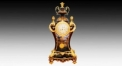 Trophy decorative 24K gold plated table clock