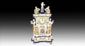 angel decorative pendulum clock (electronic)