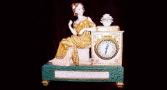 Beauty lady table clock (electronic)
