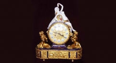 24K gold plated table clock