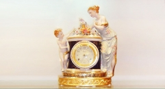 beauty lady and angel table clock ( import )