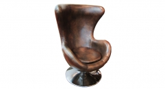 Full top grain leather high back chair