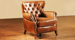 Full top grain Leather armchair