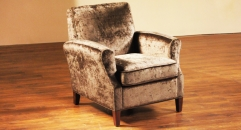 Fabric armchair, 1 seater sofa
