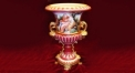 red classical decorative vase, romantic theme