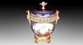 golden decorative jar, altar