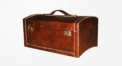 Full top grain leather trunk