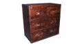 Full top grain leather chest of drawers, 4 drawers