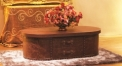 Full top grain coffee table, cabinet