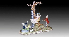 porcelain arts, joyful swing theme