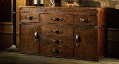 Full top grain leather chest, sideboard